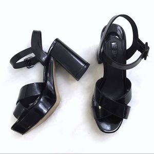 TOPSHOP • Patent Leather Platform Block Heels